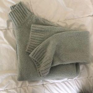 Mint H&M Oversized Turtleneck Sweater